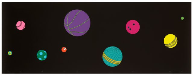 Michael Craig-Martin, The Planets (2017)