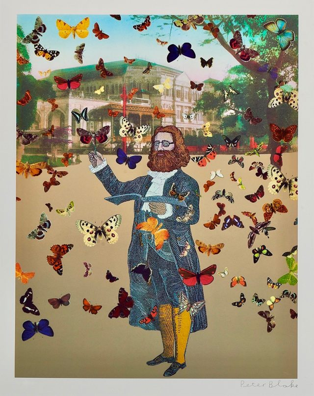 Peter Blake, The Butterfly Man at Raffles Hotel (2013)
