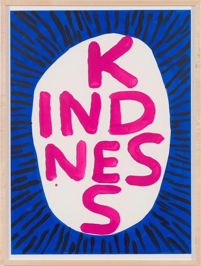 David Shrigley Kindness 2018 artwork in frame
